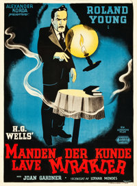 """The Man Who Could Work Miracles (United Artists, 1937). Danish Poster (24.5"""" X 33.5"""")"""