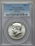 Kennedy Half Dollars, 1976-S 50C Silver Doubled Die Obverse , FS-101 MS66 PCGS. (FS-016).PCGS Population (11/5). Mintage: 11...
