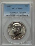 Kennedy Half Dollars, 1988-P 50C MS67 PCGS. Ex: Vennekotter Collection. PCGS Population(57/0). NGC Census: (48/1). Numismedia Wsl. Price for pr...