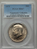 Kennedy Half Dollars, 1973 50C MS67 PCGS. Ex: Vennekotter Collection. PCGS Population(32/0). NGC Census: (4/0). Mintage: 64,964,000. Numismedia ...