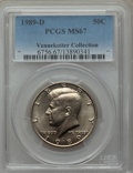 Kennedy Half Dollars, 1989-D 50C MS67 PCGS. Ex: Vennekotter Collection. PCGS Population(70/1). NGC Census: (71/1). Numismedia Wsl. Price for pr...