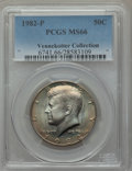 Kennedy Half Dollars, 1982-P 50C MS66 PCGS. Ex: Vennekotter Collection. PCGS Population(212/7). NGC Census: (45/3). Mintage: 10,819,000. Numisme...