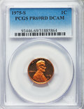 Proof Lincoln Cents, 1973-S 1C PR69 Red Deep Cameo PCGS. This lot also includes: 1974-S 1C PR69 Red Deep Cameo PCGS; 1975-S 1C PR69 Red Deep... (Total: 4 coins)