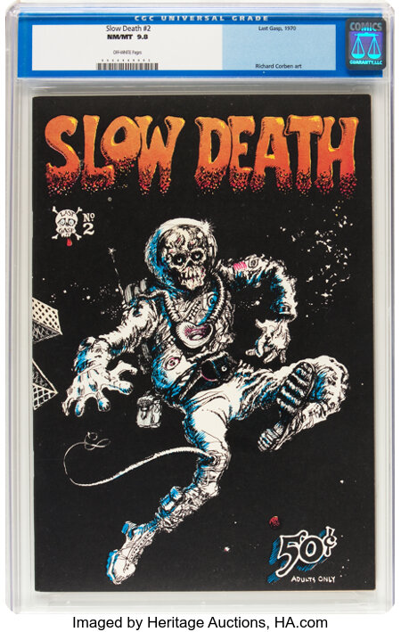 Slow Death #2 (Last Gasp, 1970) CGC NM/MT 9.8 Off-white pages....