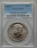 Kennedy Half Dollars, 1983-P 50C MS67 PCGS. EX: Vennekotter Collection. PCGS Population(17/1). NGC Census: (3/0). Mintage: 34,139,000. Numismedi...