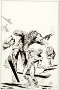 Original Comic Art:Covers, Dick Ayers The Original Shield #5 Unpublished Cover OriginalArt (Archie Comics, 1984)....