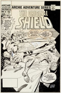 Original Comic Art:Covers, Dick Ayers The Original Shield #3 Cover Original Art(Archie, 1984)....