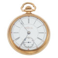 "Timepieces:Pocket (post 1900), Rare Illinois 17 Jewel ""Rail Road King"" Open Face Pocket Watch. ..."