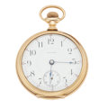 Timepieces:Pocket (post 1900), Waltham 14k Gold 17 Jewel 18 Size Pocket Watch. ...
