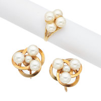 Cultured Pearl, Gold Jewelry