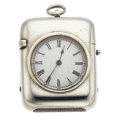 Timepieces:Other , Unusual Silver Watch & Matchbox Combination. ...