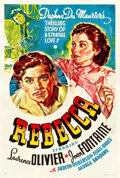 """Movie Posters:Hitchcock, Rebecca (United Artists, 1940). Other Company One Sheet (27.25"""" X41"""").. ..."""
