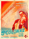 """Movie Posters:Hitchcock, Saboteur (Universal, 1949). French Grande (47.5"""" X 63.25"""").. ..."""