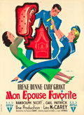 """Movie Posters:Comedy, My Favorite Wife (RKO, 1947). First Post-War Release French Grande(46"""" X 63"""").. ..."""