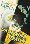 "Movie Posters:Horror, The Invisible Ray (Universal, 1935). Full-Bleed Swedish One Sheet(27"" X 39"").. ..."