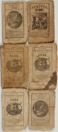 Books:Americana & American History, [Almanacs, Fraternal Organizations]. Six Issues of theAnti-Masonic Almanac. Various Publishers, [1828 - 1832]. ...