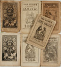 Books:Americana & American History, [Comic Almanacs]. Group of Seven Nineteenth-Century Comic Almanacs.Various publishers, [1839 - 1859]. ...