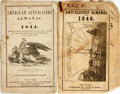Books:Americana & American History, [Abolition]. Pair of Anti-Slavery Almanacs. Various publishers,[1843 - 1845]. ...