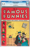 Platinum Age (1897-1937):Miscellaneous, Famous Funnies #2 (Eastern Color, 1934) CGC VG 4.0 Cream to off-white pages....