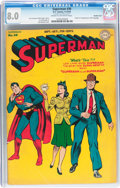 Superman #30 Double Cover (DC, 1944) CGC VF 8.0 Cream to off-white pages