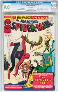 Silver Age (1956-1969):Superhero, The Amazing Spider-Man Annual #1 (Marvel, 1964) CGC VF/NM 9.0 Whitepages....
