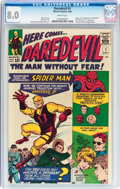 Silver Age (1956-1969):Superhero, Daredevil #1 (Marvel, 1964) CGC VF 8.0 White pages....