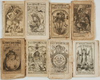 [Comic Almanacs]. Eight Issues of Elton's Comic All-My-Nack. New York: Elton Publisher, [1841 - 1848]