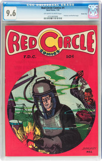 Red Circle Comics #1 Carson City pedigree (Rural Home , 1945) CGC NM+ 9.6 Off-white to white pages