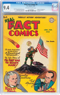 Golden Age (1938-1955):Non-Fiction, Real Fact Comics #6 (DC, 1947) CGC NM 9.4 Off-white to whitepages....