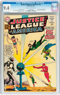 Silver Age (1956-1969):Superhero, Justice League of America #12 (DC, 1962) CGC NM 9.4 Cream tooff-white pages....