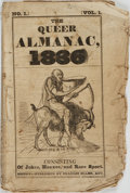 Books:Americana & American History, [Comic Almanacs]. The Queer Almanac 1836, Vol. I, No. 1.Boston: Charles Ellms, [1835]. ...