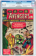 Silver Age (1956-1969):Superhero, The Avengers #1 (Marvel, 1963) CGC FN+ 6.5 White pages....