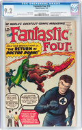 Silver Age (1956-1969):Superhero, Fantastic Four #10 (Marvel, 1963) CGC NM- 9.2 Cream to off-whitepages....