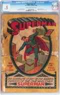 Golden Age (1938-1955):Superhero, Superman #1 (DC, 1939) CGC PR 0.5 Cream to off-white pages....