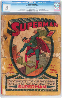 Superman #1 (DC, 1939) CGC PR 0.5 Cream to off-white pages