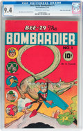 Golden Age (1938-1955):Funny Animal, Bee-29 The Bombardier #1 Mile High pedigree (Neal Publications,1945) CGC NM 9.4 Off-white to white pages....