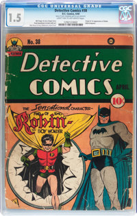 Detective Comics #38 (DC, 1940) CGC FR/GD 1.5 Light tan to off-white pages