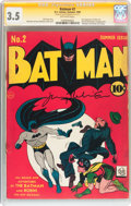 Golden Age (1938-1955):Superhero, Batman #2 Signature Series (DC, 1940) CGC VG- 3.5 Off-white pages....