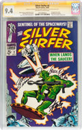 Silver Age (1956-1969):Superhero, The Silver Surfer #2 Signature Series (Marvel, 1968) CGC NM 9.4 Off-white to white pages....