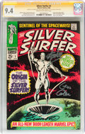 Silver Age (1956-1969):Superhero, The Silver Surfer #1 Signature Series (Marvel, 1968) CGC NM 9.4Cream to off-white pages....