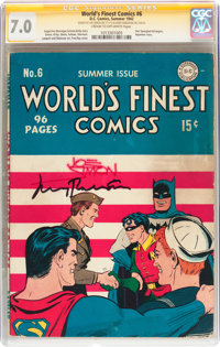 World's Finest Comics #6 Signature Series (DC, 1942) CGC FN/VF 7.0 Cream to off-white pages