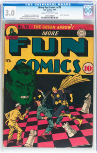 More Fun Comics #76 (DC, 1942) CGC GD/VG 3.0 Cream to off-white pages