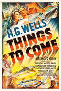 """Movie Posters:Science Fiction, Things to Come (United Artists, 1936). One Sheet (27.5"""" X 41"""").. ..."""