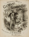 Books:Music & Sheet Music, [Sheet Music, Minstrelsy]. I. M. Hengler. Go' Way Bumble Bee! Boston: White, Smith and Perry, [1871]. . ...