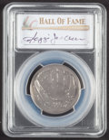 Baseball Collectibles:Others, 2014 Reggie Jackson Signed Baseball Hall of Fame Silver 50 CentPCGS MS70 Coin. ...