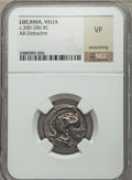 Ancients:Greek, Ancients: LUCANIA. Velia. Ca. 300-280 BC. AR didrachm (no wt.given)....