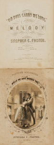 Books:Music & Sheet Music, [Sheet Music]. Pair of Titles by Stephen Foster. Various publishers, 1851 - 1854. . ...