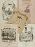 Books:Music & Sheet Music, [Sheet Music]. Five Sets of Nineteenth-Century Sheet Music. Various publishers and dates. ...