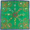 """Luxury Accessories:Accessories, Hermes 90cm Green, Blue & Gold """"Arabesques,"""" by Henri d'OrignySilk Scarf. Very Good Condition. 36"""" Width x 36""""Length..."""
