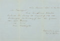 Books:Americana & American History, [Revolutionary War, Americana]. Manuscript Confirmation of Servicefor Allen Clinton. Dated April 18, 1853. ...